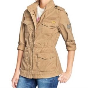 🆕OLD NAVY Front Zip Military Utility Field Jacket